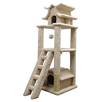 New Cat Condos Premier Designer Cat Pagoda, Brown
