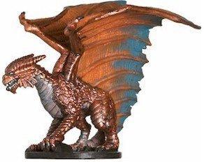 (D & D Minis: Large Copper Dragon # 21 - Angelfire)