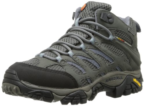 Merrell Women's Moab Mid Gore-Tex Hiking Boot,Grey/Periwinkle,6 M US Gore Tex Xcr Shoe