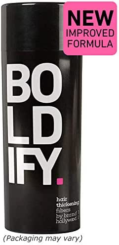 BOLDIFY Hair Fibers for Thinning Hair - 100% Undetectable Keratin Fibers - Giant 28g Bottle - Completely Conceals Hair Loss in 15 Seconds (Black)