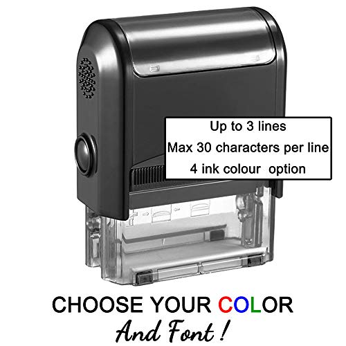 (Personalized Stamp-Custom Stamp Self Inking Rubber Stamp,Return Address Stamp with up to 3 Lines of Custom Text)