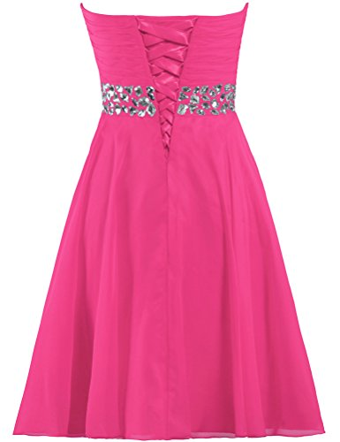 Women's ANTS Gown Crystal Chiffon Dress Short Hot Size US Party Pink 18W Strapless Cocktail SqnqdwxCHp
