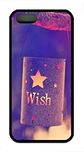 iPhone 5S Cases & Covers - Quotes Wish Lights TPU Rubber Silicone Case for Apple iPhone 5S and iPhone 5 - Black