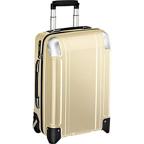 Geo Polycarbonate Carry On 2 Wheel Travel Case Polished Gold