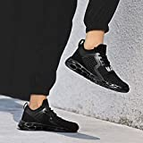 JJLIKER Mens Trainers Sneakers- Running Tennis Shoe Fashion Casual Breathable Basketball Shoes Blade Trail Shoes Black