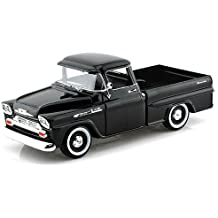 Showcasts Collectibles 1958 Chevy Apache Fleetside Pickup Truck 1/24 Scale Diecast Model Car Black