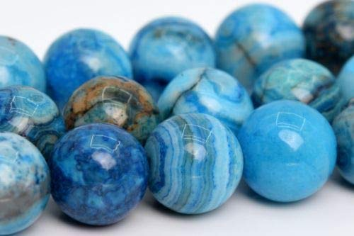 10mm Natural Blue Crazy Lace Agate Beads Grade Round Loose Beads 15.5