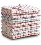ICG - Paño de cocina, algodón de rizo, para secar, pack de 7 unidades, diseño a cuadros