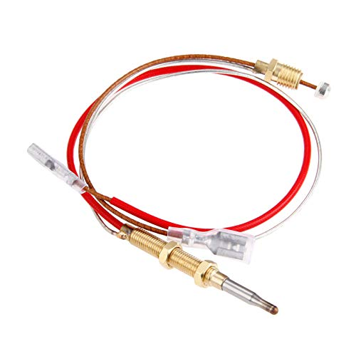 Aupoko Patio Heater Thermocouple, Outdoor Heater Replacement Parts M8 x 1 End Connection Nuts Thermocouple 410 mm Length M6 x 0.75 Head Thread with 6.3 MM/0.25'' Flat Terminal