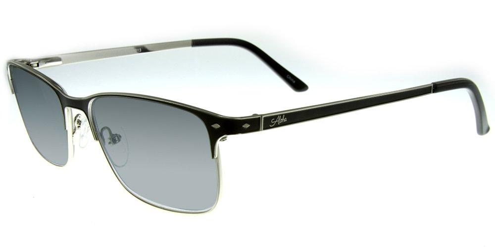 Aloha Eyewear Tek Spex 1013 Unisex RX-Able Reader Sunglasses with Progressive Polarized Lens (Black +2.00)