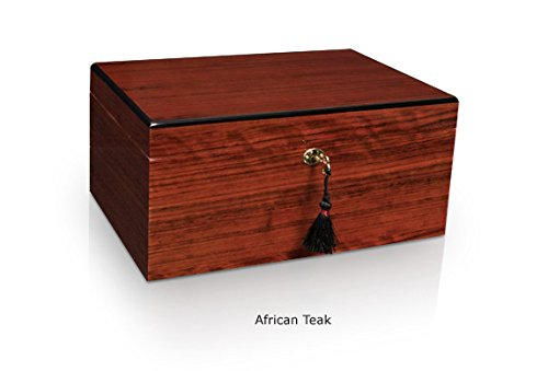 Savoy Small African Teak Humidor - Holds 25 Cigars