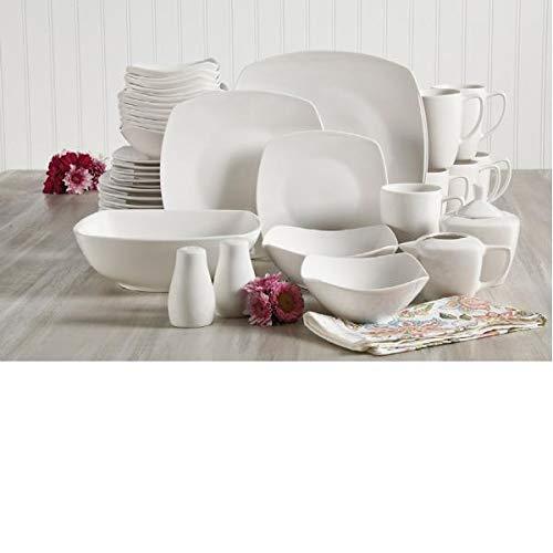Gibson Home Zen Buffetware 39 Piece Dinnerware Set , White