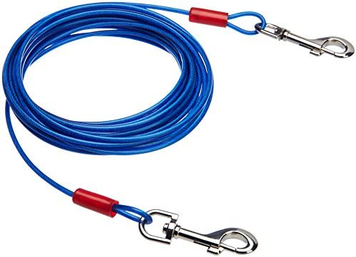 AmazonBasics Tie Out Cable Dogs 60lbs