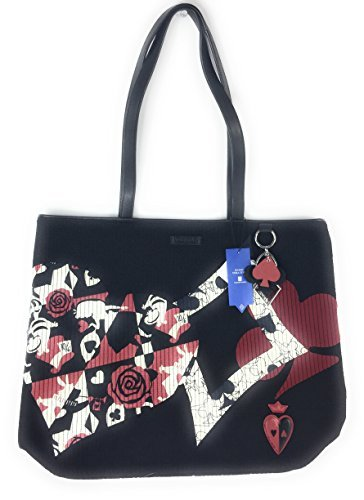 Mickey Mouse Club Charm - Vera Bradley Disney Parks Alice in Wonderland Paint the Roses Black Tote