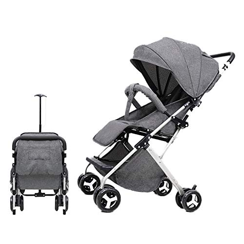 AMENZ Strollers,Trolley,Trolley Cot,Twin Pushchair, Compact Travel System,Cover Highly, Pram to Create a Convenient,Anti-Scratch, for 1 Month -4 Years Old Baby – Gray