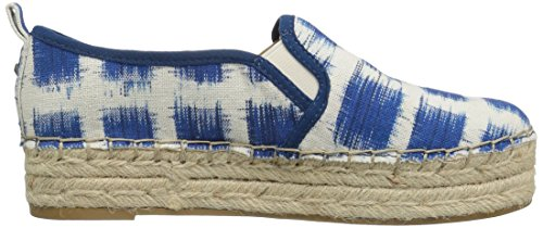 Sam Edelman Vrouwen Carrin Platform Espadrille Slip-on Sneaker Blauw / Multi-gingham Print