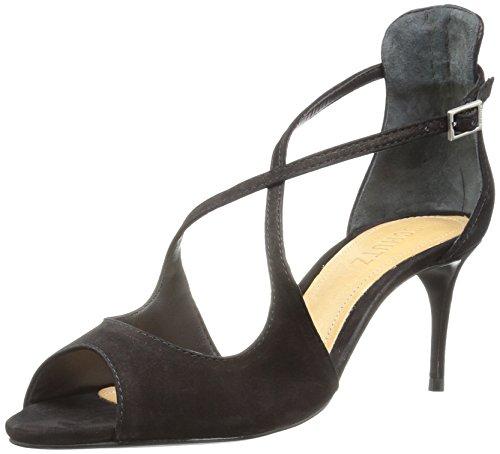 SCHUTZ Women's Zach Dress Sandal, Black, 7.5 M US by SCHUTZ