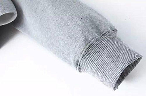 Court Bettydom Nombril Alien shirt au Manches Pull avec 3 gris Longues Femme Sweats rIwYr
