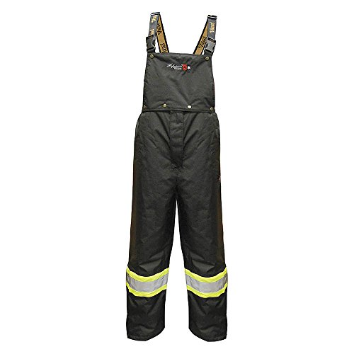 (Viking 3907FRWP-XL Flame Resistant Insulated Rain Bib Pants, Black, XL)