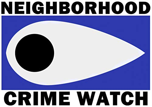 Neighborhood Crime Watch stickers 5 pack 2016 Newly Designed Also for Crime Stoppers or Citizen Patrol Premium Outdoor Quality Family Home Security Crime Prevention against Home Break-in Intrusion