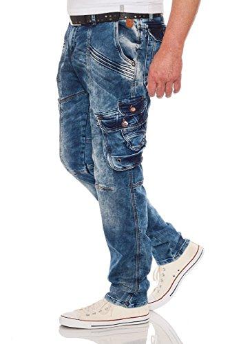 CIPO & BAXX Herren Cargo Jeans CD383