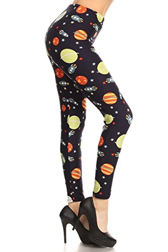 R698-OS Space Invaders Print Fashion Leggings