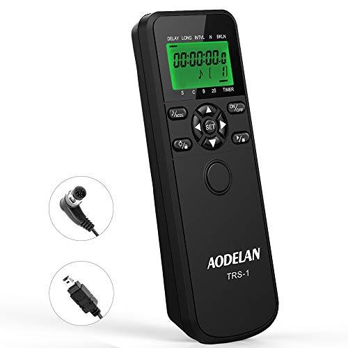 AODELAN TRS-1 Camera Shutter Release Timer Remote Control for Nikon Z6, Z7, Coolpix P1000, D850, D810, D700, D3, D4, D5, D3100, D5000, D7200, D600, D610, D750, D3200, D3300 Replace MC-DC2,MC-36,MC-30A