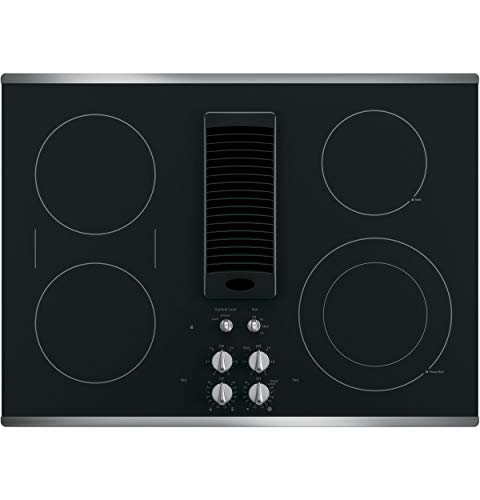 GE PP9036SJSS 36 Inch Electric Cooktop with 5 Radiant, Bridge SyncBurners, 6