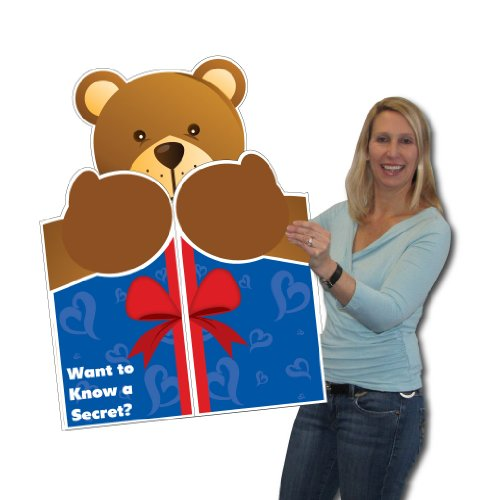 2'x3' Giant Bear Hug Greeting Card, W/Envelope - Valentines day card, Anniversary Card, Love Card, Birthday Love Card