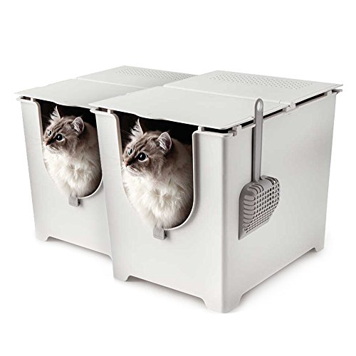 Modkat Flip Litter Box with Scoop and Reusable Liner (2-Pack)