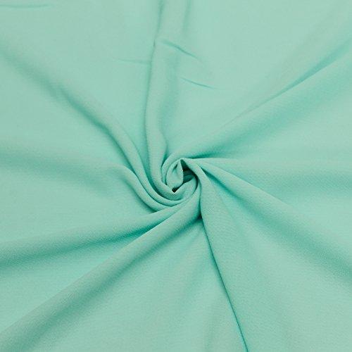 Seafoam Pale Diamond Chiffon Poly Chiffon Fabric