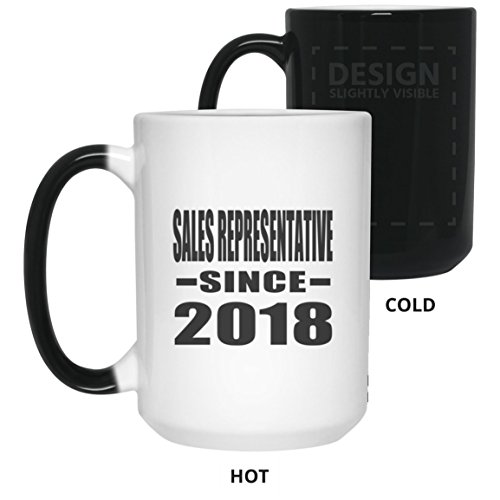 Sales Representative Since 2018-15 Oz Color Changing Mug, He
