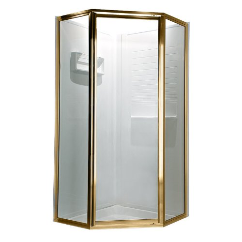 OPQF1400.094 Neo Angle Quick Fit Doors with Clear Glass, Gold ()