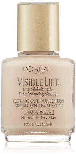 L'Oreal Paris Visible Lift Line-Minimizing & Tone-Enhancing Makeup, Soft Ivory, 1.25 - Minimizing Spf Line Makeup 17