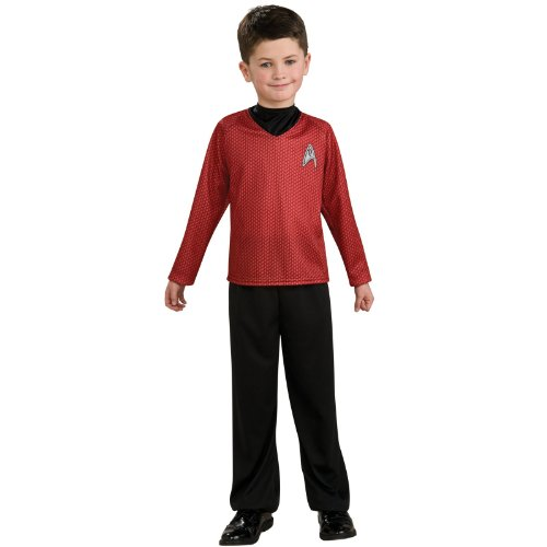 Star Trek Red Shirt Kids Costumes (Lets Party By Rubies Costumes Star Trek Movie (Red) Shirt Child Costume / Red - Size Medium)