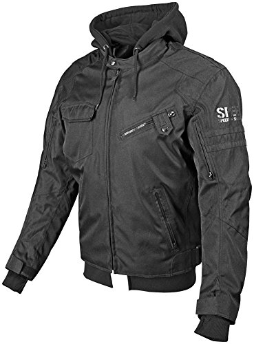 Speed and Strength Off the Chain 2.0 Men's Textile Jacket (Stealth, Medium) (Textile Motorcycle Jacket)