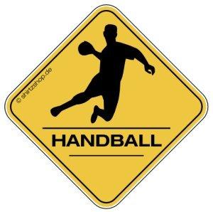 HANDBALL, HANDBALLER CROSSING #2 Aufkleber Autoaufkleber Sticker...