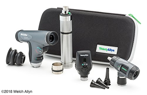 Welch Allyn Enhanced Diagnostic Set feat. Coaxial Ophthalmoscope, PanOptic Ophthalmoscope, MacroView Otoscope and Nickel Cadmium Rechargeable - Fiber Optic Welch Allyn