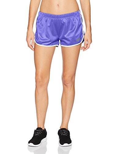 Soffe Women's Juniors Retro Birds Eye Mesh Short, neon Purple, Small