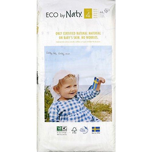 Naty Couches Jetables Eco pour Peaux Sensibles Taille 4 7-18 kg 2 Paquets de 44 8178433