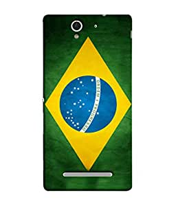 ColorKing Football Brazil 03 Multi Color shell case cover for Sony Xperia C3