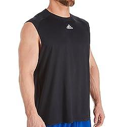 Adidas Climalite Mens Sleeveless Training Tee 4xl Black