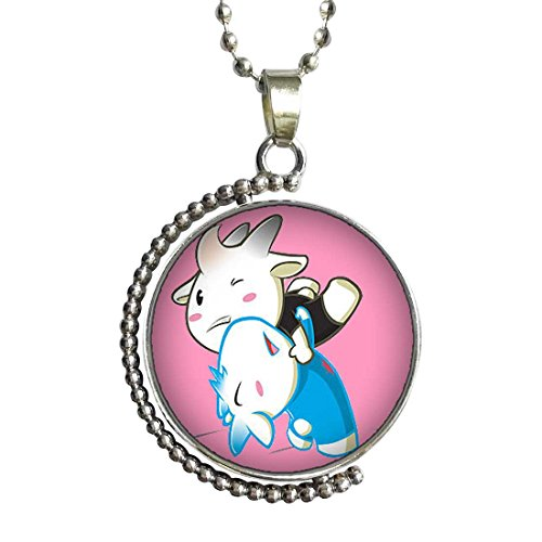 Olympics Wrestling cartoon Glass Cabochon Rotatable Lucky Pendant Necklace by GiftJewelryShop