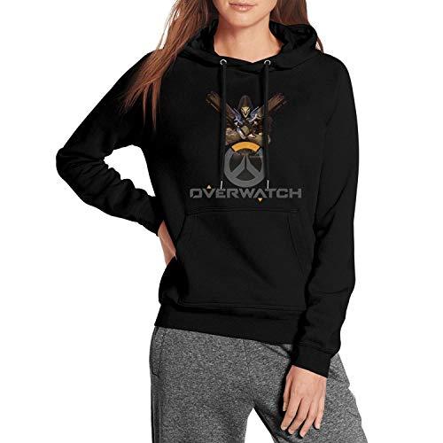 FAJDLD Overwatch-Skull-Gun-Hoodies for Women Winter Fleece Hooded Sweatshirt Pullover Hoodie Sweater