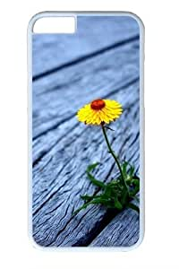 Flower between wooden boards PC For HTC One M8 Phone Case Cover White