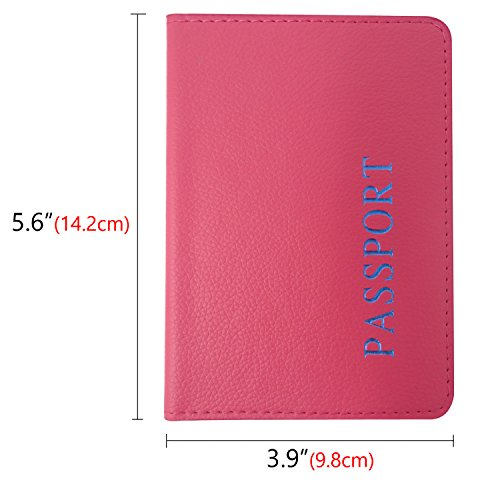 1aeff0a96f49 Honbay 2PCS Passport Cover Case Holder for Travel Animal Friendly ...