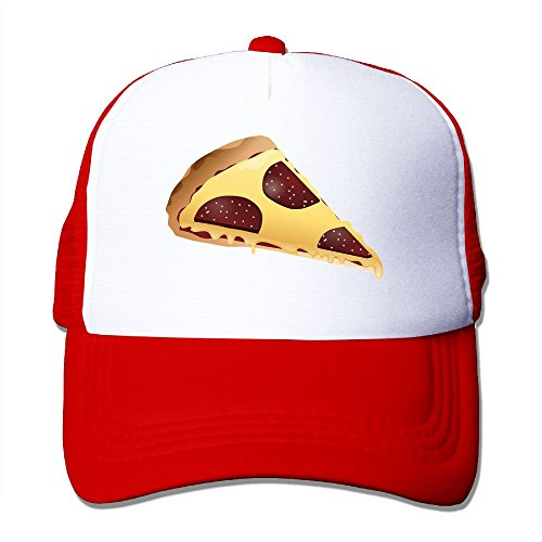 Vicop Pizza Trucker Cap Summer Mesh Hat With Adjustable Strap Red