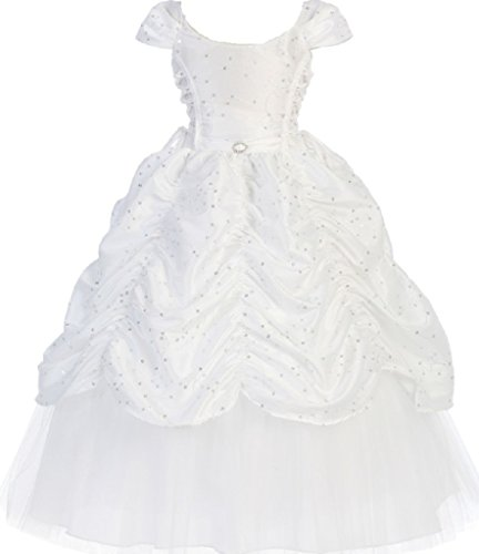 Little-Girls-Cap-Sleeve-Cinderella-Embroidered-Flowers-Girls-Dresses
