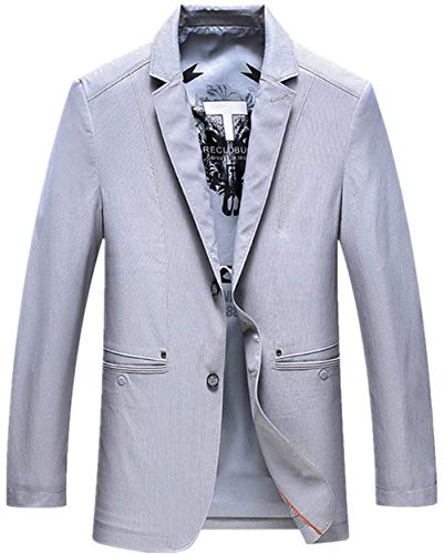 Slim Suit Sportiva Da Fit Good Grau Uomo Blazer Sposa Ragazzi Business Smoking Abito Prom Classiche Giacche Ntel Button Leisure Men's Giacca 8qcwBTRTt
