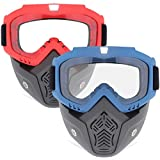 2 Pack Face Mask, Tactical Mask with Protective Goggles Compatible with Nerf Rival, Apollo, Zeus,...